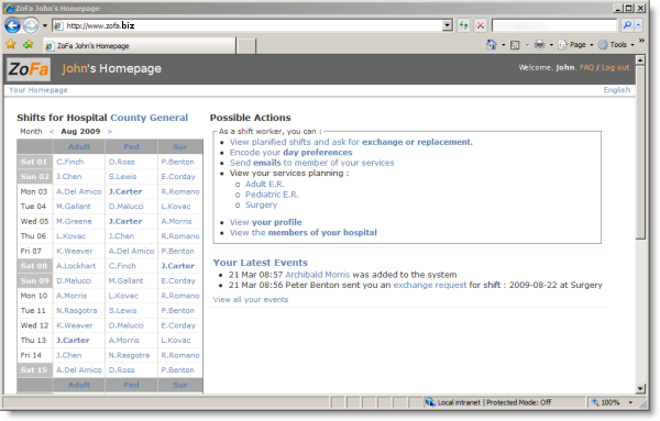 Example screenshot